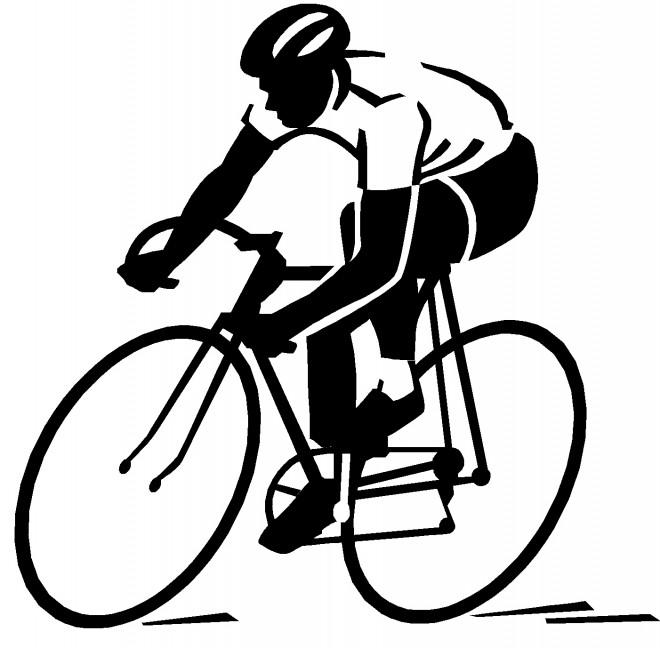 Coloriage Cyclisme Silhouette dessin gratuit